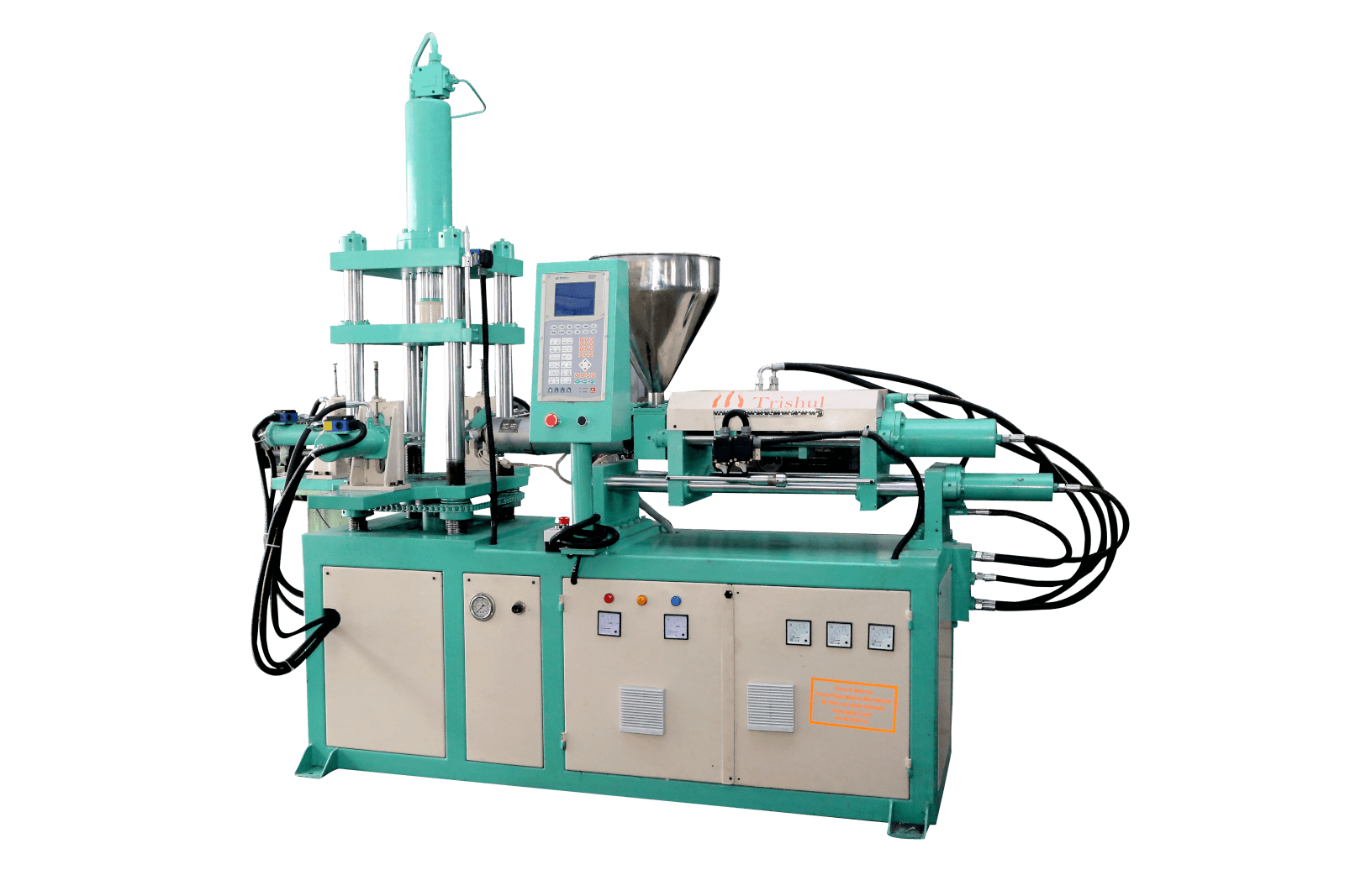 High Speed Vertical Clamping Horizontal Injection Moulding Machine